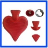 BS 1 Liter high quality rubber Heart Shape Hot Water Bottle