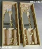 ELEGANT GIFT SET- Cake and pie server set in wooden box - NEW