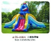 Inflatable playground castle &slide