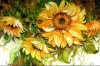 Modern Decoration Sunflowers Art Painting