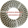 Diamond wire saw for steel or reinforced concrete with spring and rubber