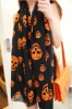 Voile Skull Head Long Scarf for Lady