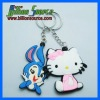 3d customized silicon keychain from dongguan factory