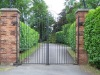 Simple but elegant wrought iron automatic gate