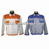 Men Cotton Polyester Work Garment