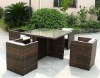 AWRF5019-2012 NEW DESIGN FASHION ALL WEATHER SYNTHETIC WICKER DINING SET,WATERPROOF,UV-RESISTANT,SUPPLIER