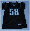 Eagles #58 T.COLE black color jersey
