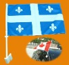 Quebec Car flag/Canadian car window flag