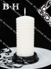 BH070140 pillar candles with rain-drop surface holiday candle