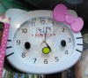Hello Kitty plastic wall clock D414 on sale wholesale & drop shipping