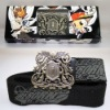 Power Seller + metal & canvas waist belt/fashion belt /men pu lether belt A219 on sale wholesale & drop shipping