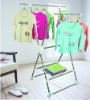 X type folding,movable clothes rack with a web shelf