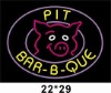 Pig bar-B-que neon sign with logo