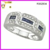 Men's wide band ring with cz stones