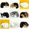 simulation toy sleeping toy dog breathing animal toy sleeping dog model