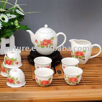 Bone China Tea Set with decal