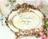 New desgin oval Bronze mirror palace style polyresin photo frame