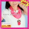 high-grade scarf with fashion pendant jewelry for lady