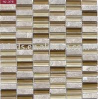 glass mix stone mosaic tile