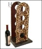 Latest Elegant Fashionable Leopard Grain Leather Wine Frame