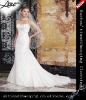 Famous design sweetheart appliqued white wedding dress
