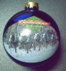 Personalized christmas glass ball ornament