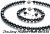 7-7.5mm dryed black freshwater pearl set