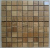 Wood mosaic tile