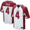 Youth NO.4 Kevin Kolb Game Team White Jersey