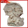 lovely white resin angel baby figure for home decoration