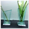 Clear Vase Glass with Sweep Shape FF-G1005