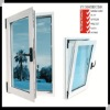 Conch profiles pvc awning window design with AS2208 double glazing glass