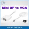 15 cm Mini Display Port to VGA Converter for MacBook with retail package Mini DP to VGA Cable 5 pc/lot