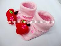 Red Apple Dolls Baby Socks Like Shoe