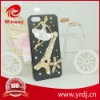 Cellphone cover Bling bling Tower style plastic rhinestone cases for apple iphone 4g/5