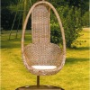 Small size real wicker swing egg chair-8608