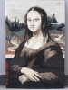 Mona lisa marble imitation,marble mural painting,marble sculpture