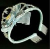 Full Heart Wedding Tiara Crown Cheap Plastic Crowns and Tiaras
