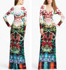 Fashion multicolor abaya maxi dress 2013
