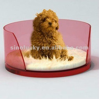 transparent acrylic pet bed