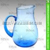 1400ml glass jugs for juice,colorful glass water pitcher