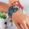 Beauty Alloy Resin Rhinestone Leaf Shape Bangles