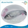 Transparent silicone cling film for food