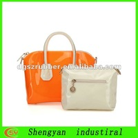 Factory discount candy transparent pvc ladies shouder bag for summer