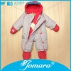 Thick winter baby long sleeve long leg romper with hoodie
