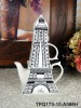 Eiffel Tower ceramic tea pot for one