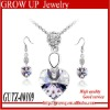 Wholesale latest fashion rhinestone wedding jewelry set bridal