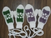 hand knitted winter gloves