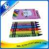 wholesale crayons 6pcs wax oil crayons in paper color box