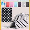 Black white lovely polka dot for leather case for ipad mini